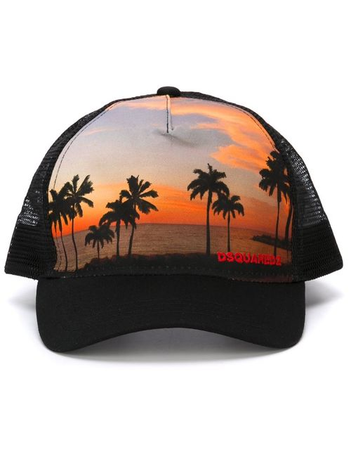 Dsquared2 | Мужское Чёрный Palm Tree Baseball Cap