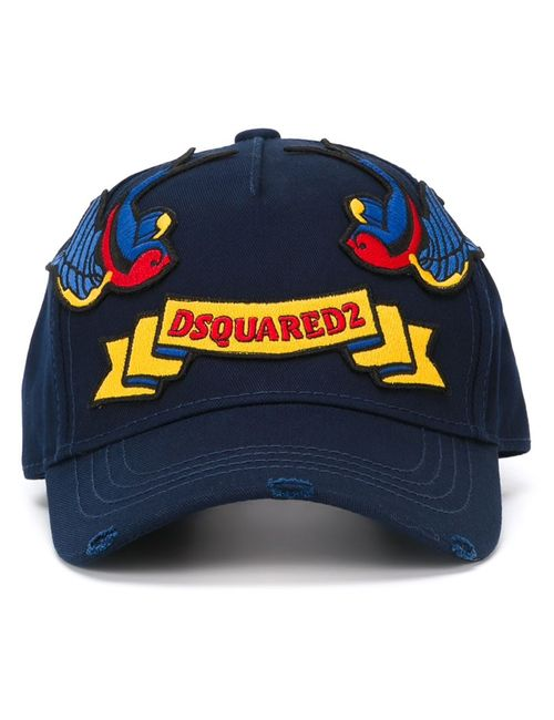Dsquared2 | Мужское Синий Embroidered Patch Cap