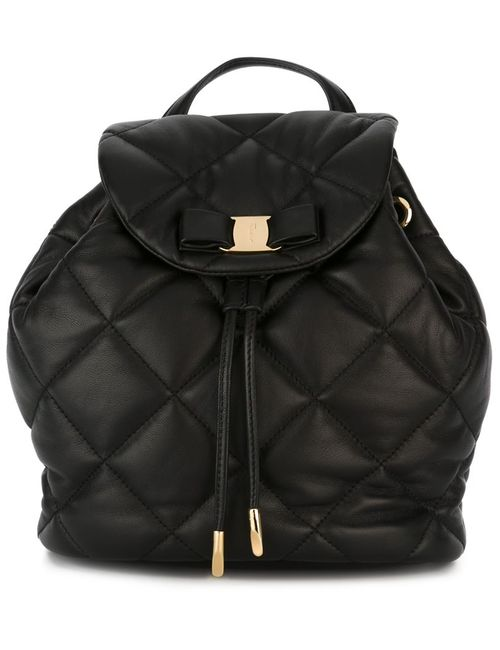 Salvatore Ferragamo | Женское Чёрный Giuliette Quiled Backpack