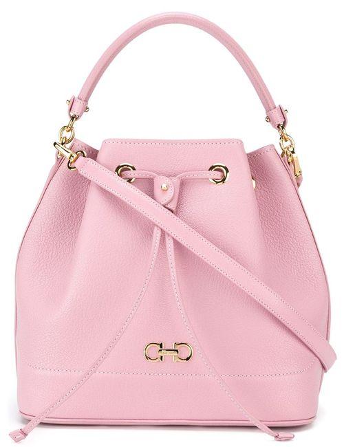Salvatore Ferragamo   Женское Розовый Millie Bucket Crossbody Bag