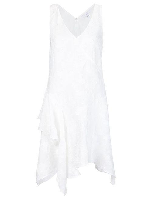 Derek Lam 10 Crosby   Женское Белый Textured Ruffle Detail Dress