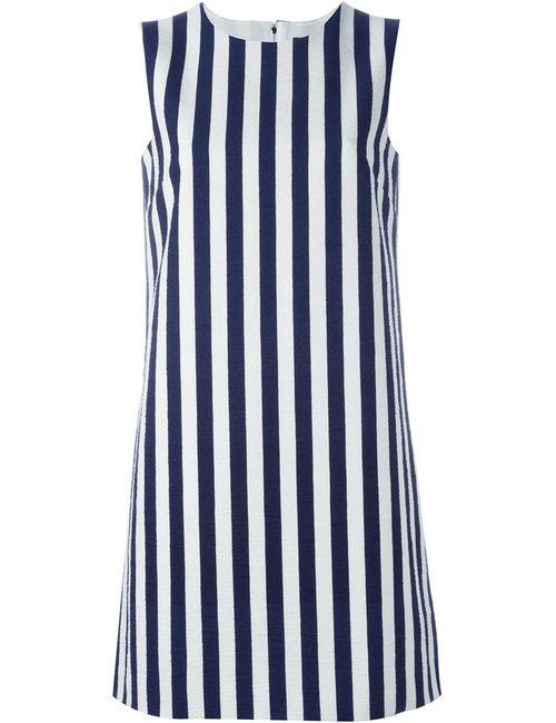 Dolce & Gabbana | Женское Синее Платье-Шифт В Полоску