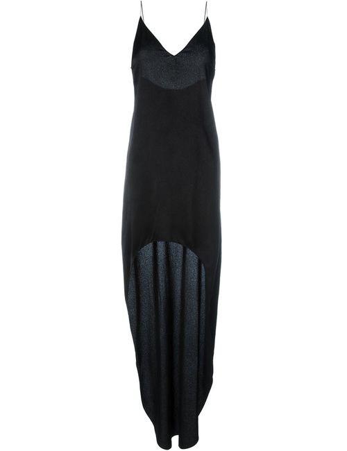Saint Laurent | Женское Чёрный Asymmetric Slip Dress