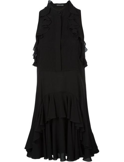 Alexander McQueen | Женское Чёрный Ruffle Detail Dress