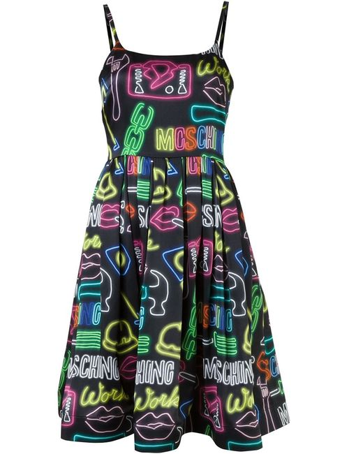 Moschino | Женское Черный Neon Sign Dress