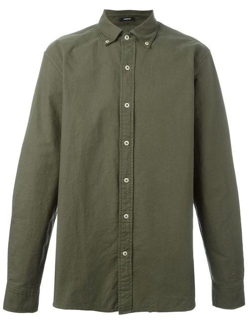 Denham | Мужская Зелёная Рубашка Rhys Gdo