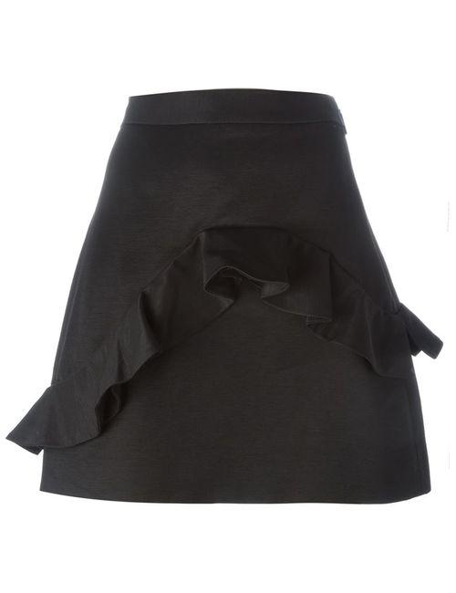 MSGM | Женское Чёрный Ruffled Mini Skirt