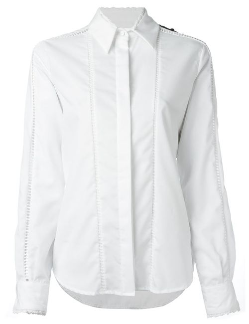 Preen By Thornton Bregazzi | Женская Белая Рубашка Колор-Блок