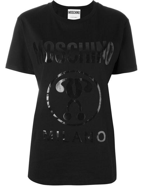 Moschino | Женская Черный Футболка С Принтом