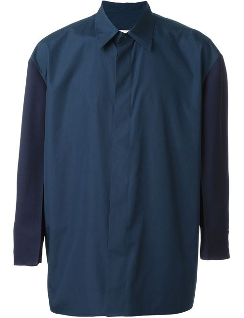 Marni | Мужская Синяя Рубашка-Блейзер