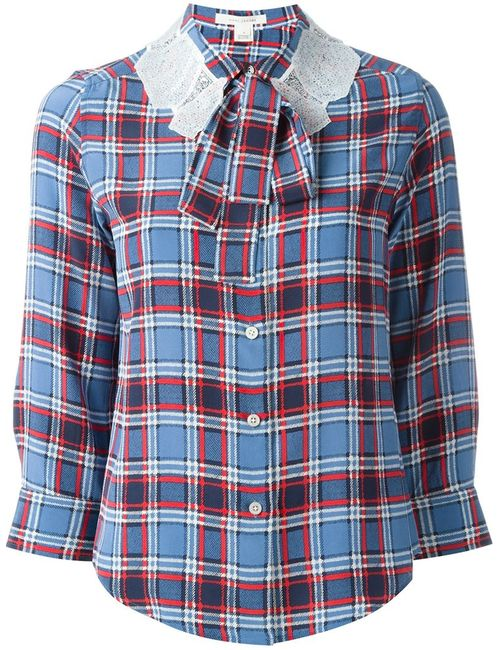 Marc Jacobs | Женское Синий Plaid Button Down Shirt