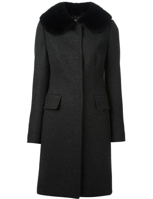 Dolce & Gabbana   Женское Серое Однобортное Пальто