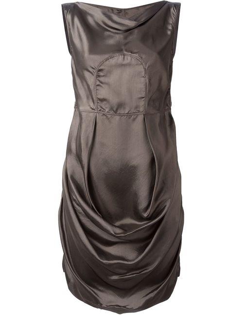 Rick Owens | Женское Коричневое Драпированное Платье