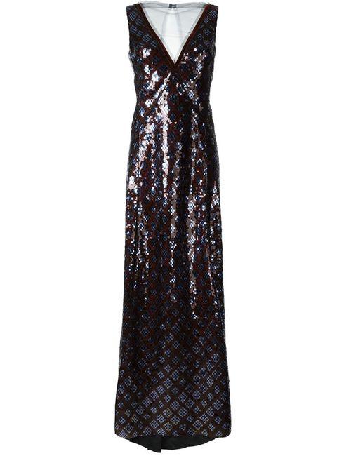 Marc Jacobs | Женское Синее Вечернее Платье С Пайетками