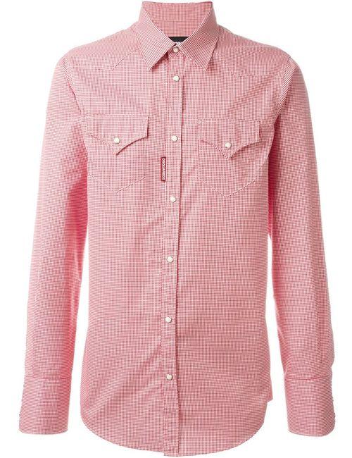 Dsquared2 | Мужское Красный Micro Houndstooth Print Shirt