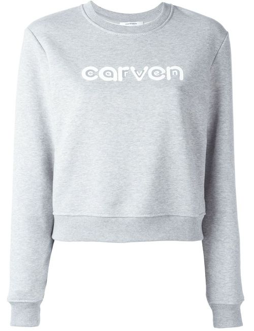 Carven | Женское Серый Logo Print Sweater