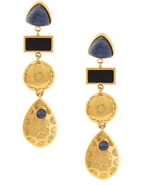 LIZZIE FORTUNATO JEWELS | Женское Серебристый Concho Column Earrings