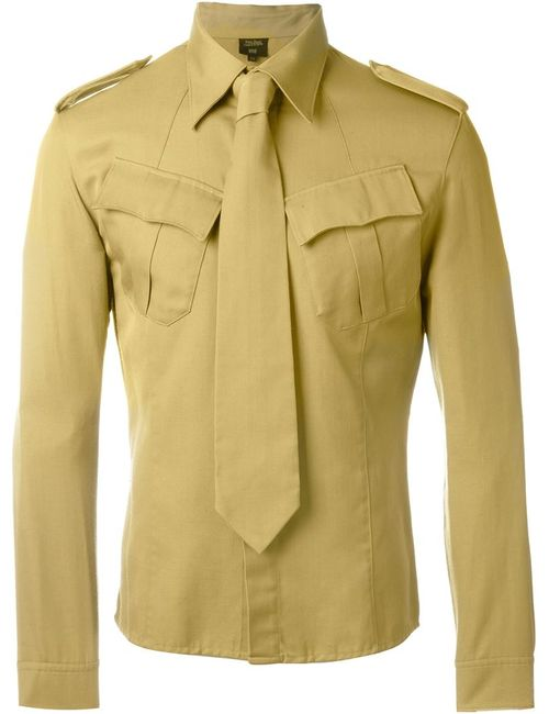 JEAN PAUL GAULTIER VINTAGE | Зелёный Tie Detail Military Shirt