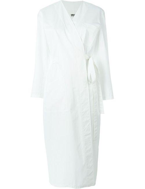MM6 by Maison Margiela | Женское Белое Платье С Запахом