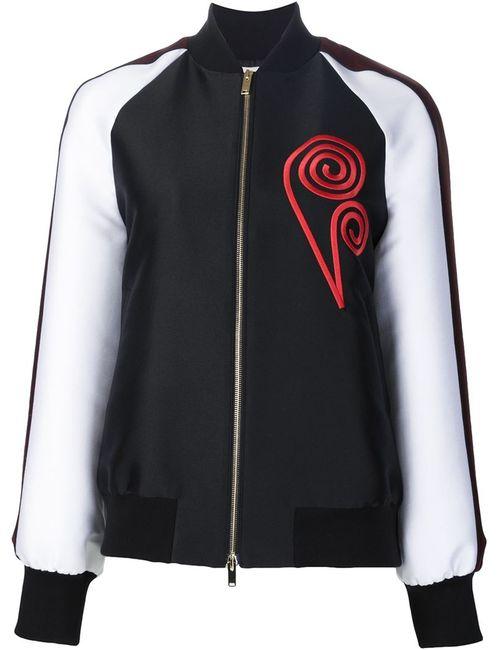 Stella Mccartney | Женское Чёрный Embroidered Detail Bomber Jacket