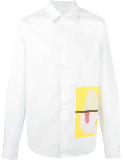 Marni | Мужская Белая Рубашка С Принтом