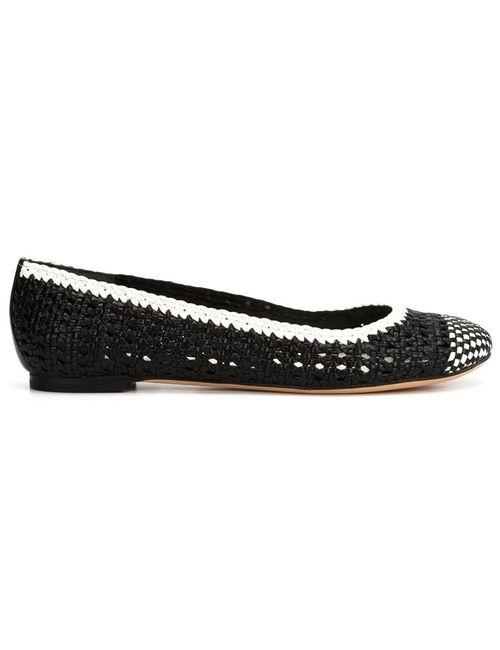 Alexander McQueen   Женское Чёрный Woven Ballerina Shoes