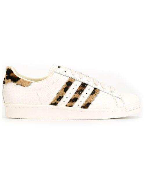 adidas Originals | Мужские Белые Кеды С Леопардовыми Полосками
