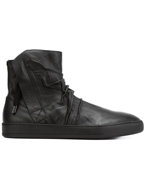 ALEXANDRE PLOKHOV | Мужское Черный Creased High-Top Sneakers