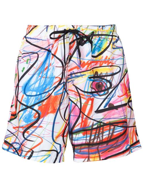 Jeremy Scott | Мужское Белый Scribble Print Swim Shorts