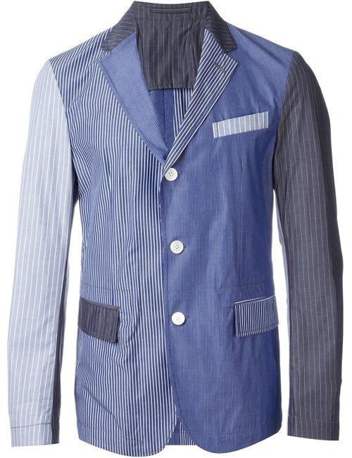 WOOSTER + LARDINI | Мужское Синий Patchwork Stripe Blazer