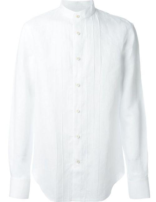 Ermanno Scervino | Мужская Белая Рубашка С Воротником-Стойкой