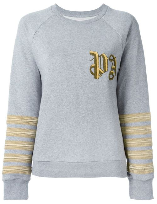 PALM ANGELS | Женское Серый Brand Initials Embroidered Sweatshirt