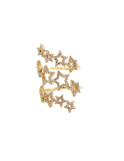 ROSA DE LA CRUZ | Женское Серебристое Кольцо-Спираль Со Звездами