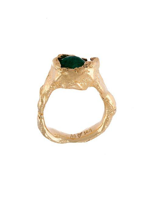 ALICE WAESE | Женское Зелёный Emerald Twist Ring