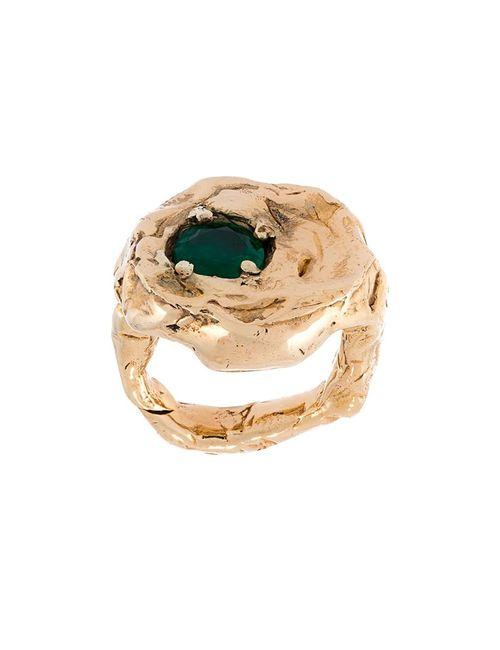 ALICE WAESE | Женское Серебристый Terra Ring With Emerald
