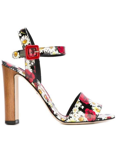 Dolce & Gabbana | Женское Многоцветный Daisy And Poppy Print Sandals
