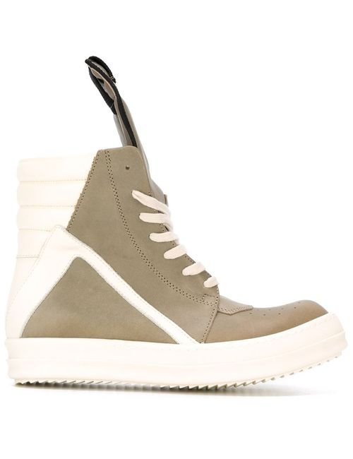 Rick Owens | Женское Зелёный Geo Basket Hi-Top Sneakers