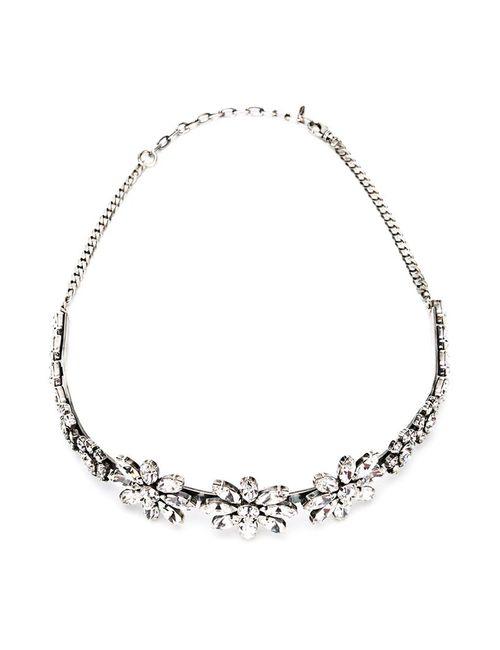 EMANUELE BICOCCHI | Женский Серебристый Ободок Flower С Кристаллами