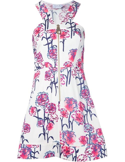 TANYA TAYLOR | Женское Белый Front Zip Ginny Dress