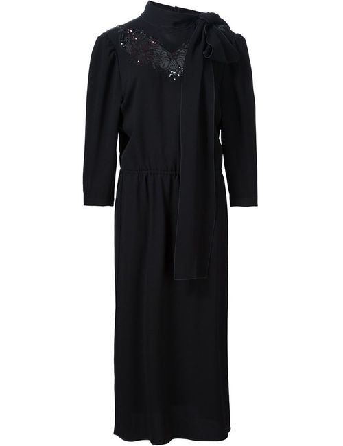 Marc Jacobs | Женское Чёрное Платье С Декорированный Вырезом