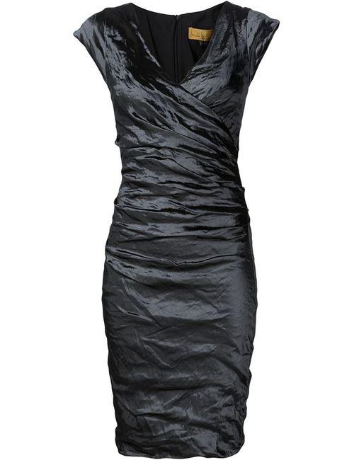 Nicole Miller | Женское Чёрное Платье С Оборками