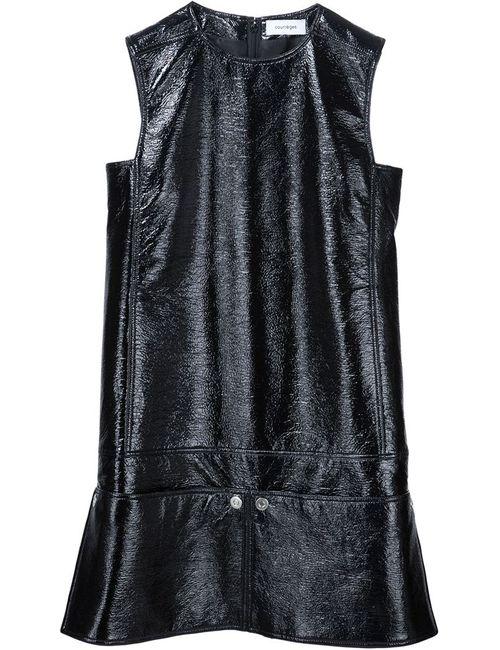 Courreges | Женское Чёрное Платье-Шифт Без Рукавов