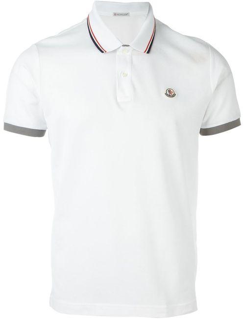 Moncler   Мужское Белый Logo Polo Shirt