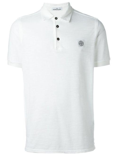 Stone Island | Мужское Белый Classic Polo Shirt