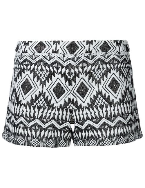 Alice + Olivia | Женское Белый Aztec Patterned Shorts