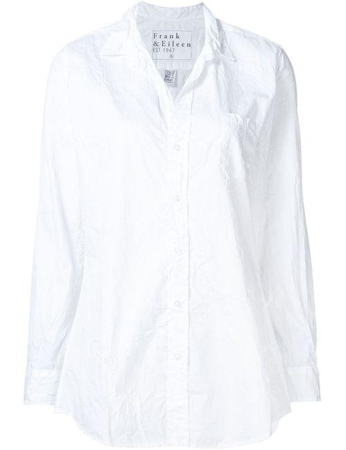FRANK & EILEEN | Женская Белая Рубашка С Мятым Эффектом Shirley