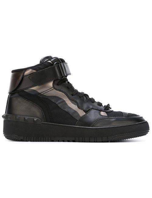Valentino Garavani | Мужское Чёрный Rockstud Camouflage Hi-Top Sneakers