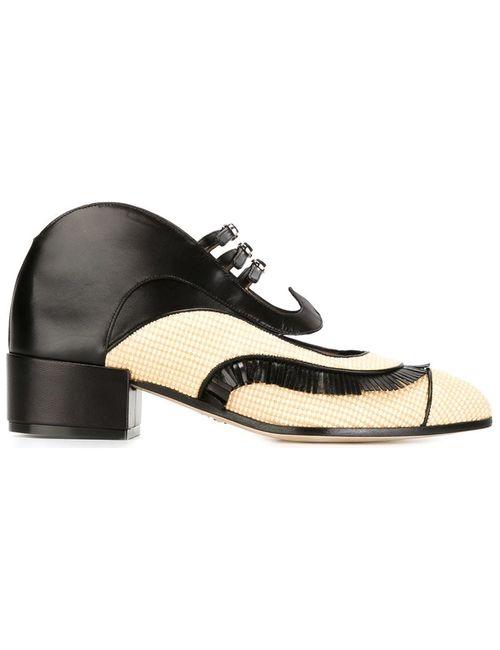 Paula Cademartori | Женские Чёрные Фигурные Туфли С Пряжками