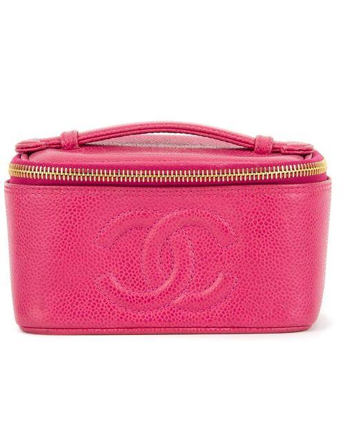 Chanel Vintage | Женский Розовый Чемоданчик Для Косметики С Логотипом