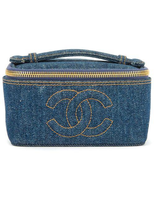 Chanel Vintage | Женский Синий Джинсовый Чемоданчик Для Косметики